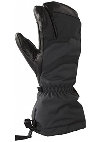 Gordini MEN'S ELIAS GAUNTLET 3 FINGER: EMPYREAN Glove (Grey/Black, XXLarge)