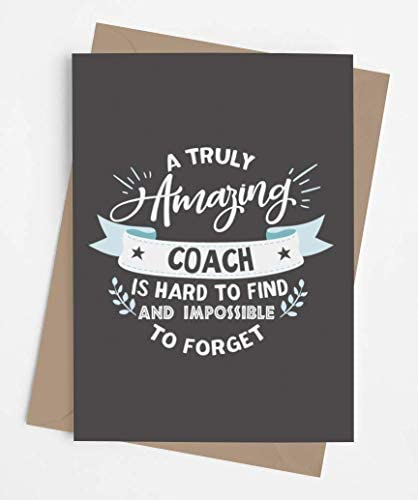 Thank You Card for Coach Awesome appreciation card for men or women for any occasion Birthday product image
