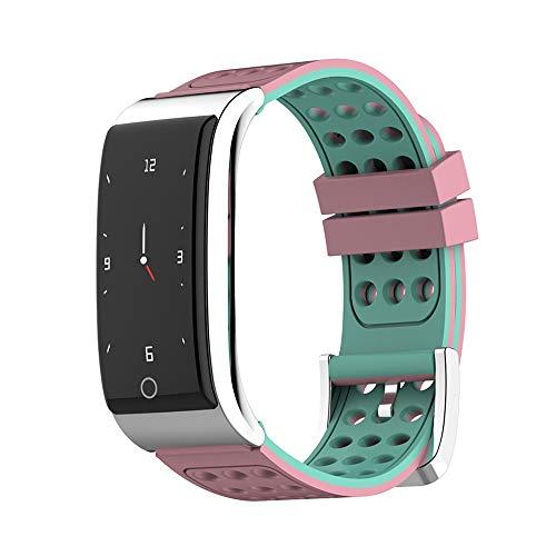 LHTCZZB Correa de dos colores Pulsera inteligente impermeable Pantalla táctil completa Reloj Bluetooth Gestión de aptitud Monitoreo de ritmo cardíaco Monitoreo Modo deportivo Batería de larga duración