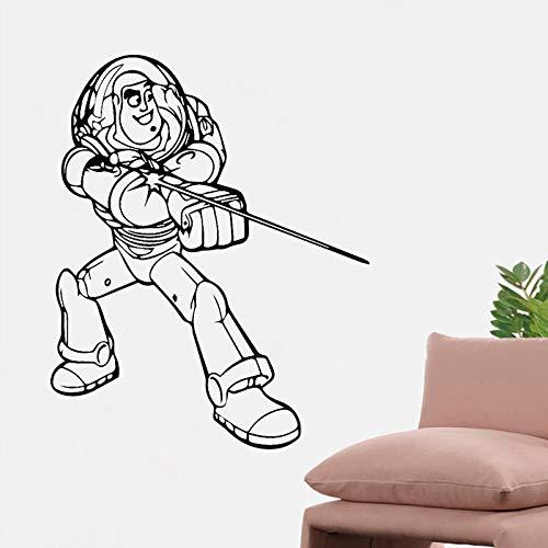 Tianpengyuanshuai Cartoon Astronaut Wandkunst Aufkleber Vinyl Wandaufkleber Material Wandbild Wohnzimmer Sofa Hintergrund Dekoration Zubehör30X37cm