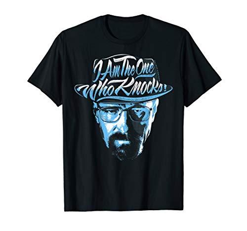 Breaking Bad I Am The One Who Knocks Blue Hue Portrait T-Shirt
