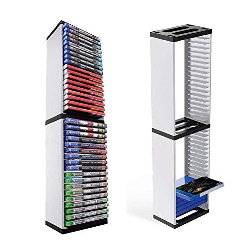 ZHIRCEKE Soporte de Almacenamiento para Las Tarjetas de Juego PS5 - Juegos, Torre de Almacenamiento para, Tarjeta de Juego Soporte Vertical para Videojuegos 36 PCS Código Doble Shield