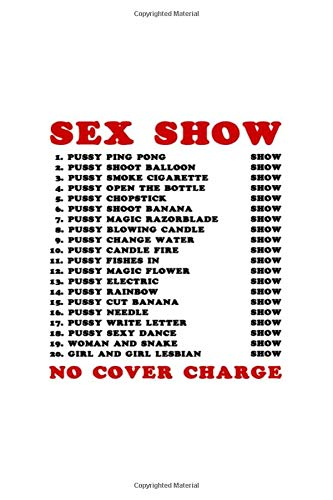 Bangkok Red Light Ping Pong Sex Show: Lined Notebook / Journal Gift, 100 Pages, 6x9, Soft Cover, Matte Finish