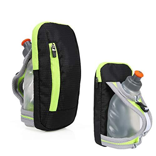 DEDC - Botella de agua con manos libres para correr, ciclismo, senderismo, camping, viajes, sistema de hidratación para corredores y atletas, color negro