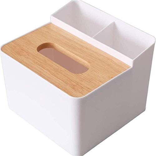 Tissue box Square Facial Tissue Box Cover Holder, Storage organizer Caddy for Bathroom Vanity Countertop, Bedroom Dresser, (Color : Black) (Color : White)