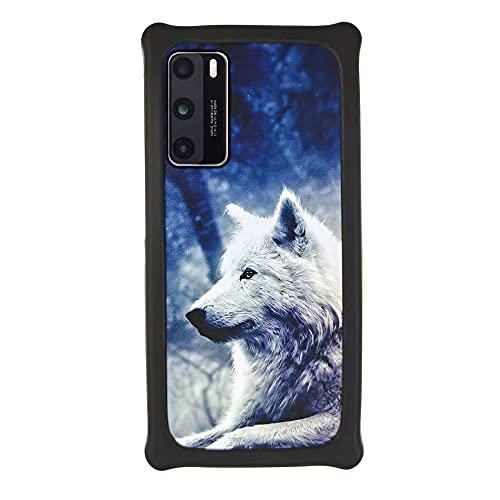 Oujietong Funda para ZTE V5 K3DX-V5G Funda Case Cover Carcasa para teléfono Hard Backplane + Marco de Silicona Suave PCLANG