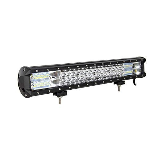 AUXTINGS 20 pulgadas 288W LED barra de luces Triple fila 7D punto de inundación spot Combo Beam LED luces de trabajo de buceo para Off Road ATV AWD SUV 4 WD 4 x 4 recogida