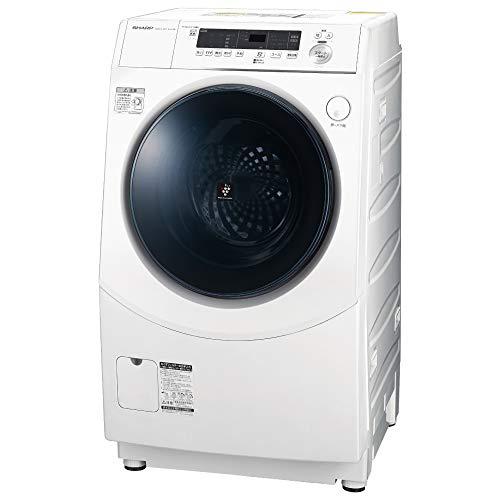 シャープ 洗濯機 ドラム式 ES-H10E-WL ヒーター乾燥 左開き(ヒンジ左) DDインバーター搭載 ホワイト 洗濯10kg/乾燥6kg 幅640mm 奥行729mm