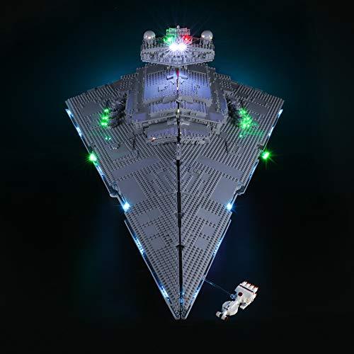 LIGHTAILING Conjunto de Luces con un Control Remoto (Star Wars Destructor Estelar Imperial) Modelo de Construcción de Bloques - Kit de luz LED Compatible con Lego 75252 (NO Incluido en el Modelo)
