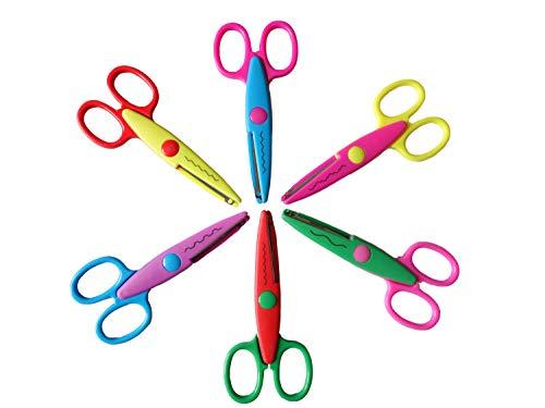 Paper Edge Scissors Set of 6 Different Patterns Craft Scissors for Teachers, Scrapbooking, Album, Kids, Arts