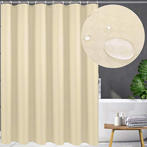 Swanson Duschvorhang mit Duschringen. Antischimmel. Modern. Edel. 120/150/180/200 x 200 cm (Yellow, 120 x 200 cm)