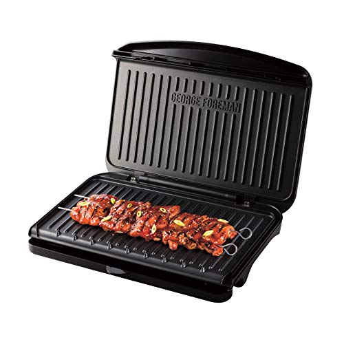 George Foreman 25820 Large Fit Grill - Versatile Griddle, Hot Plate and Toastie Machine with Improved Non-Stick Coating and Speedy Heat Up, Black