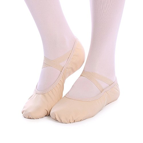バレエシューズ バレエ用品 バレエ靴 キャンバス製 トウシューズ 布製 スプリットソール エレクトーンにも 子供 大人 初心者 練習用
