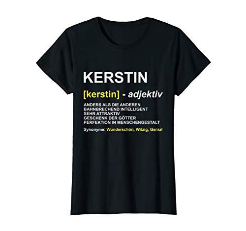 Damen T-Shirt Kerstin | Vorname Geschenk | Name Witz Spruch T-Shirt