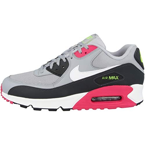 Nike Air Max 90 Essential, Scarpe da Atletica Leggera Uomo, Multicolore (Wolf Grey/White/Rush Pink/Volt 000), 46 EU