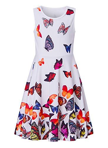 BFUSTYLE Cute Dresses for Girls Fall Tank Playwear Skater Dress Twirl Frocks Sleeveless Casual Sundress for Kid Girl 4-13 Years