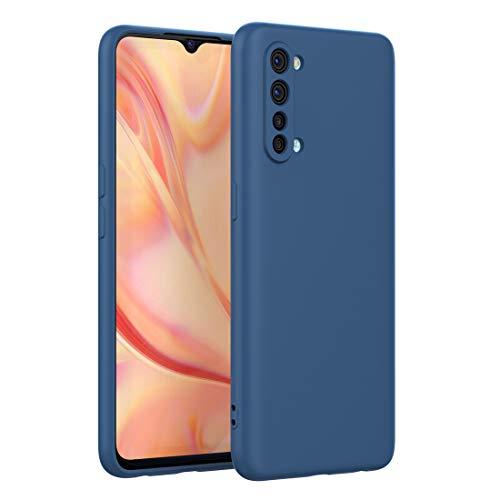 FUNMAX+ Oppo Find X2 Lite 5G Hülle Hülle, Silikon Handyhülle mit [Schutz für Kamera] [Faser-Innenraum] Anti-Scratch Dünn Schutzhülle Stoßfest Cover für Find X2 Lite (Blau)