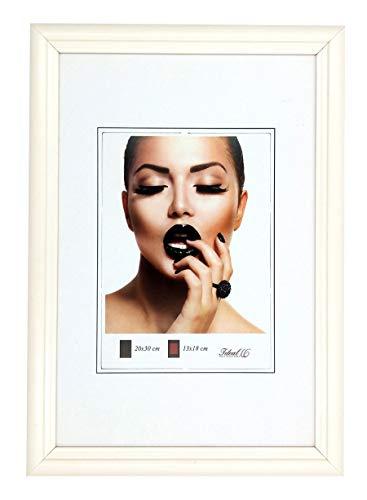Ideal Trend Artus Kunststoff Bilderrahmen 20x30 cm bis 50x70 cm Bilder Foto Rahmen: Farbe: Weiß | Format: 50x70