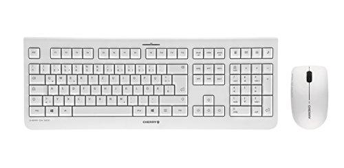 Cherry JD-0700DE-0 kabelloses Tastatur-Maus-Set weiß