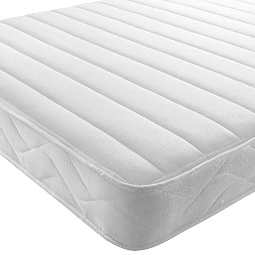 REVE BEDS Memory Foam Mattress Quilted with Springs Single 3ft (90cm) width 6FT3 (190CM)