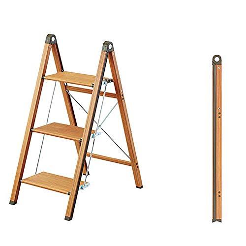 ZXMDP opvouwbare trapladder, loopt, aluminium trapladder, met 2 x 2/3 stappen roestbestendige ladder, 150 kg lading, dubbelzijdig met antislipmatten