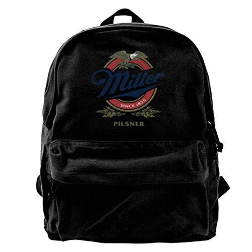 Rucksack mit Miller-Bier-Logo, für Fitnessstudio, Wandern, Laptop, Schultertasche, Tagesrucksack für Damen und Herren