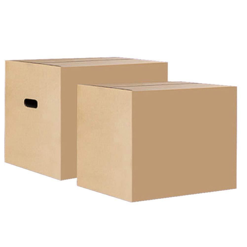 AQD Cajas de Embalaje de cartón Resistente Caja de cartón Corrugado para envío y Almacenamiento Cajas móviles de Color marrón Caja de Embalaje de Servicio Pesado para el retiro Envío800*500 * 600mm:
