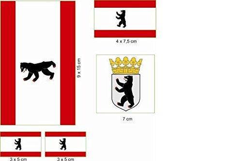 U24 Aufkleberbogen Berlin Aufkleber Set Flagge Fahne