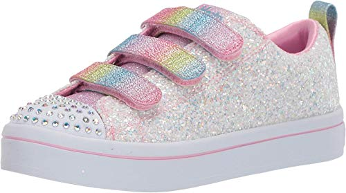 Skechers Twinkle Toes-TWI-Lites 314048l (Little Kid) Sneaker, White/Multi, 3 US Unisex