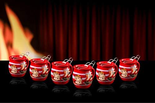 Feuerzangentasse 6er im Karton, Rot/Störtebeker - für Feuerzangenbowle