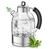 ASCOT Glas Wasserkocher-Wasserkocher Retro Elektrische Teekocher Kettle Schnelle Doppelheizung...