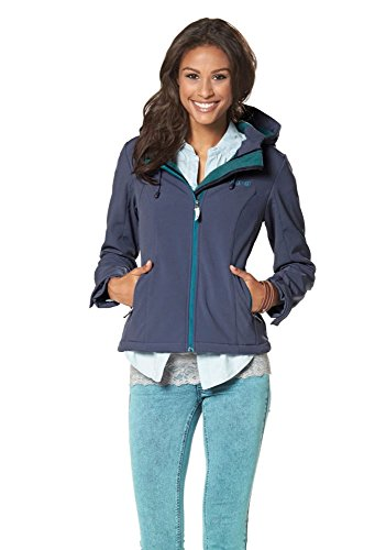 Flashlights Damen Softshelljacke Softshell Jacke (Rauchblau, 36)