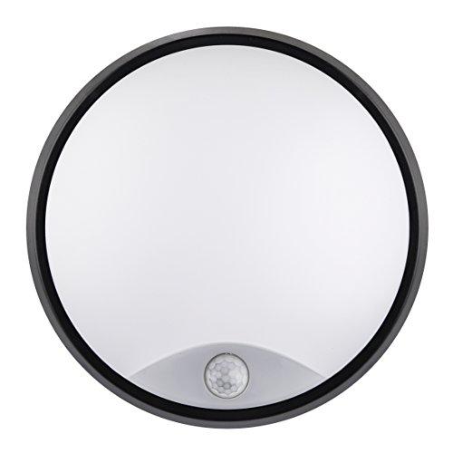 Luceco LED Eco Aussenleuchte rund, mit PIR Bewegungssensor, 10 Watt