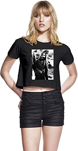 Charles Manson Criminal Vintage Womens Continental Cropped Jersey Large