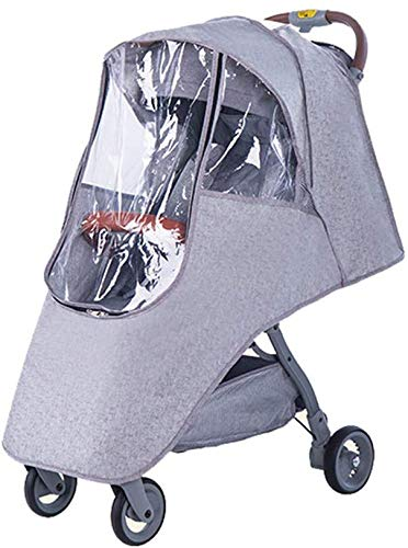 Rziioo Poussette Housse de Pluie, Buggy bébé imperméable Lin Universal Poussette Landau Housse de Pluie pour poussettes, Facile in/Out Zipper