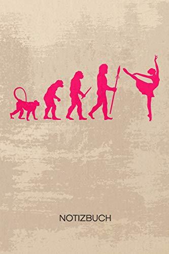 NOTIZBUCH A5 Dotted: Balletttänzerin Notizheft GEPUNKTET 120 Seiten - Motivation zum Tanzen Notizblock Ballet Evolution Skizzenbuch - Ballett Geschenk für Tänzer Tänzerin Tanzpartner