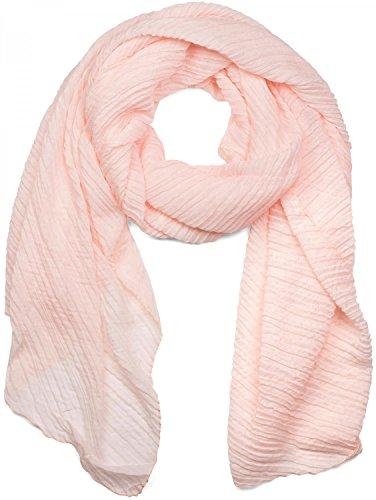 styleBREAKER styleBREAKER gekreppter unifarbener Schal, Crash and Crinkle, Tuch, Damen 01016107, Farbe:Apricot