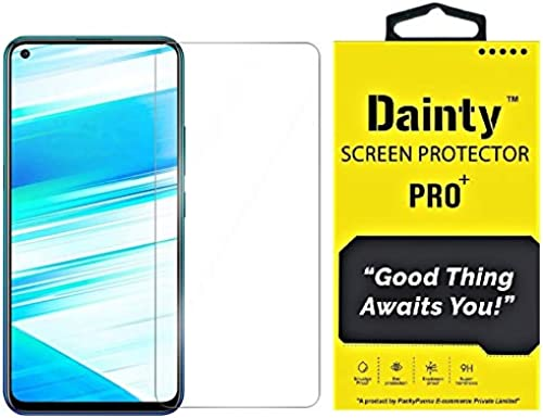 Dainty Tempered Glass Screen Guard Gorilla Protector For Realme 6 Realme 6I With Easy Installation Kit Full Screen Coverage Except Edges 11D Original Temper Transparent Pack Of 1