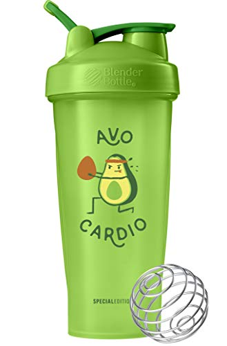 BlenderBottle Just for Fun Classic 28-Ounce Shaker Bottle, Avo Cardio