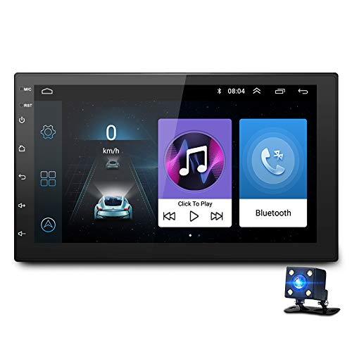 ACAMPTAR 7 Pollici Android8.1 2 Din Auto DVD Radio lettore multimediale Navigazione GPS universale per doble din Autoradio -Android Car Navigation - Car Multimedia Radio WiFi Internet Supporto e altro