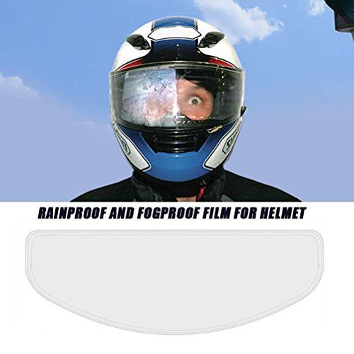 Kohyum Motorrad Helm Linse Anti-Beschlag-Folie wasserdichte Linsenfolie, universal Regen und Nebel Schutzfolie, transparente Linsen Aufkleber für Helmvisier für Motorrad