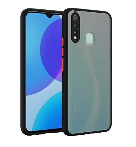 Aanshi Designed for Vivo Z1 Pro Case ranslucent Matte Back with Soft Edges, [Military Grade Tested] Shockproof and Anti-Drop Protection Hard Cover for Vivo Z1 Pro - Smoke Black