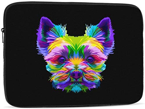 Funda para ordenador portátil de 10 a 17 pulgadas, diseño de olas psicodélicas, multicolor