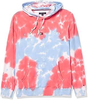 Tommy Hilfiger Men's Tie Dye Hoodie Sweatshirt