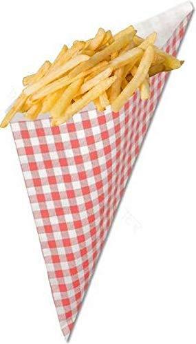 AhGuwa-Lot de 100 cornet papier pour fettdichte Pommes tüte Frites, cornet frite pour patate, Nourriture à emporter,Taille: 14x14x20cm