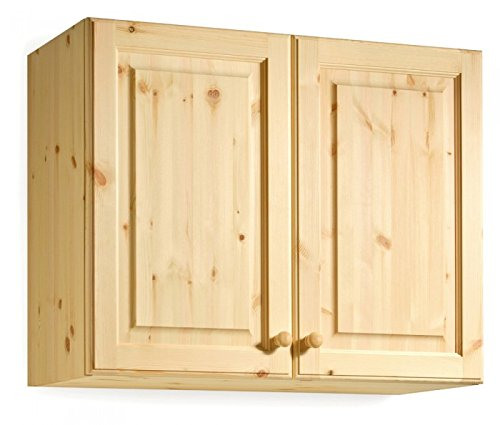 Arredamenti Rustici Pensile per Cucina modulare da L 90 cm H 72 cm Serie Verona in Legno Pino Massello Colore Verniciato Naturale