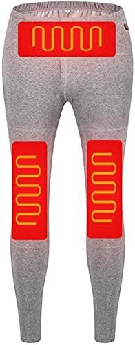 PFTHDE Termostato Inteligente USB Nano Pantalones calefactores eléctricos de Fibra compuesta, Calentador de un botón para Mantener Las Rodilleras Calientes para Esquiar al Aire Libre