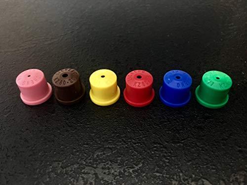 Holle kegel Spraying spuitmondstuk tips/Totaal van (6 NOZZLES ONE OF EACH) perfecte set voor knapzak spuiten, onkruid doden etc