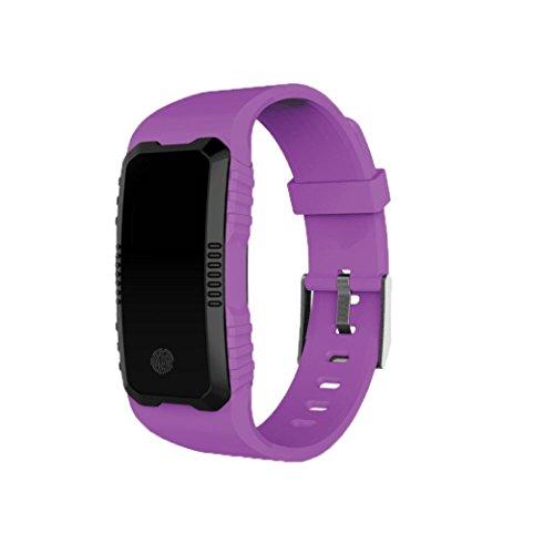 squarex squarex H1 Herzfrequenz-Blutdruckmessgerät mit Schlitz am Handgelenk wasserdicht Bluetooth Smart Watch