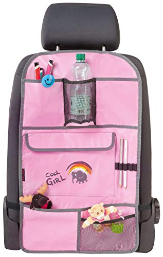 Walser 30698 Auto Organizer Kinder, Rückenlehnenschutz Kinder, Cool Girl Rosa